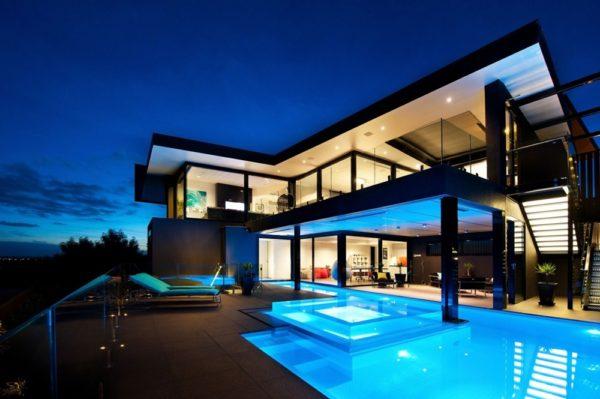 unfinity Schwimmad moderne Häuser