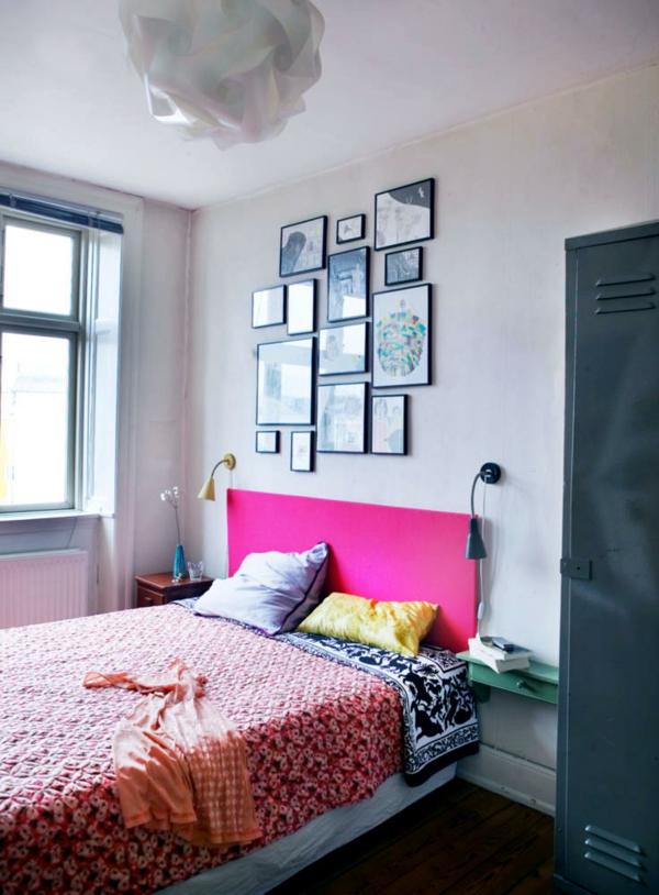 wandgestaltung schlafzimmer petersburger hängung