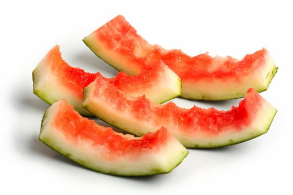 wassermelonen schale essen rezepte