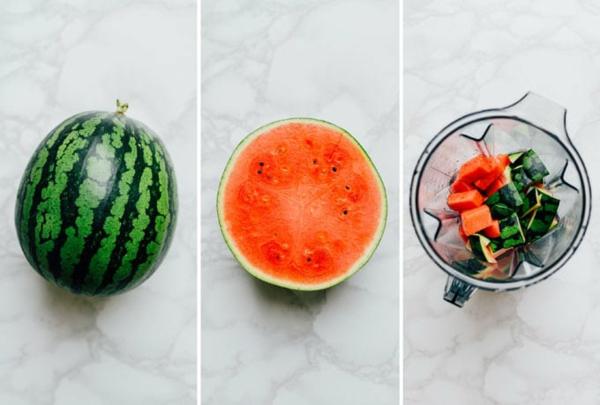 wassermelonen schale zubereiten smoothies