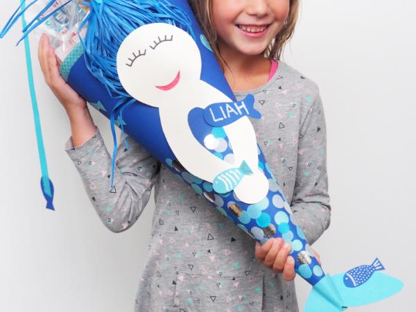 DIY Idee für Kinder mit einem Namen Schultüte