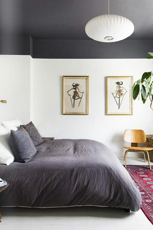Decke dunkel streichen Deckenfarben Ideen