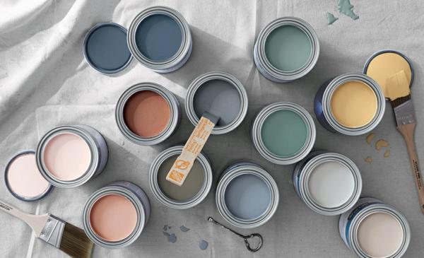 Decke streichen Deckenfarben Farbkombination Ideen