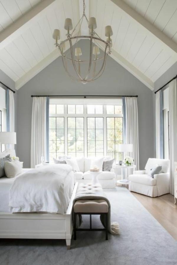 Decke weiß streichen Deckenfarbe hell