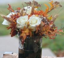 Schöne Deko Ideen mit Herbstblättern, Blumen und Co.