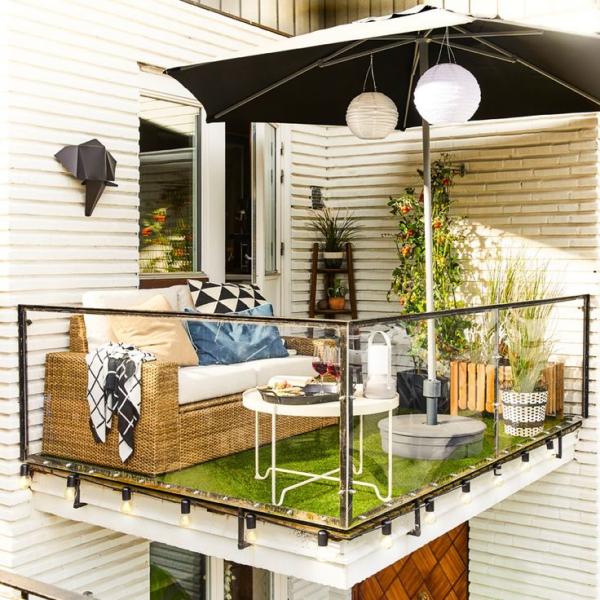 Die passenden Balkonmöbel für jeden Platzbedarf und weitere Tipps hübsche idee plan für balkon