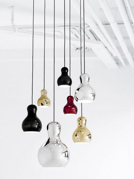 Hängeleuchten 7 pendelleuchten aus buntem Glas schönes Design