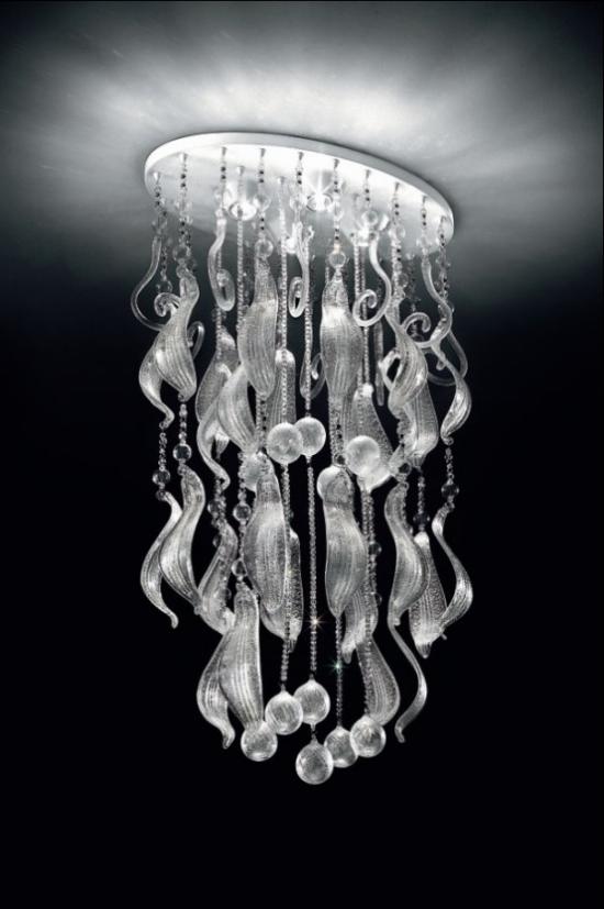 Hängeleuchten Deckenleuchte aus Kristallglas ausgefallenes Design