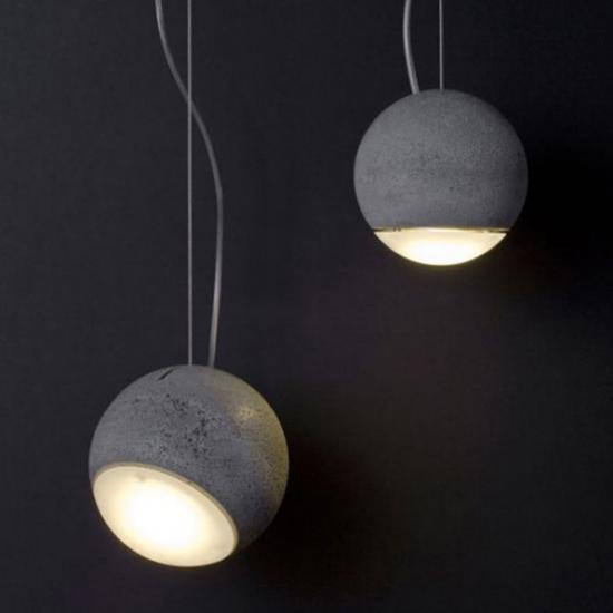 Hängeleuchten ausgefallenes Design halbsphärische Formen aus Beton