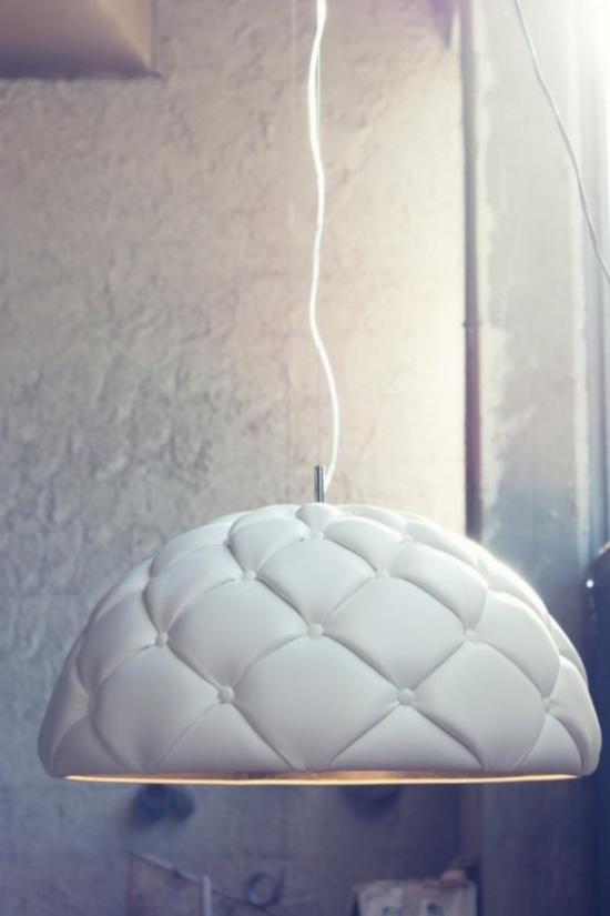 Hängeleuchten gepolsterter Lampenschirm in Weiß schönes Design