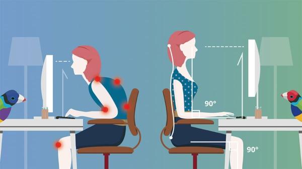 Nackenschmerzen Übungen Arbeitsplatz richtige Stellung Nackenschmezen was tun