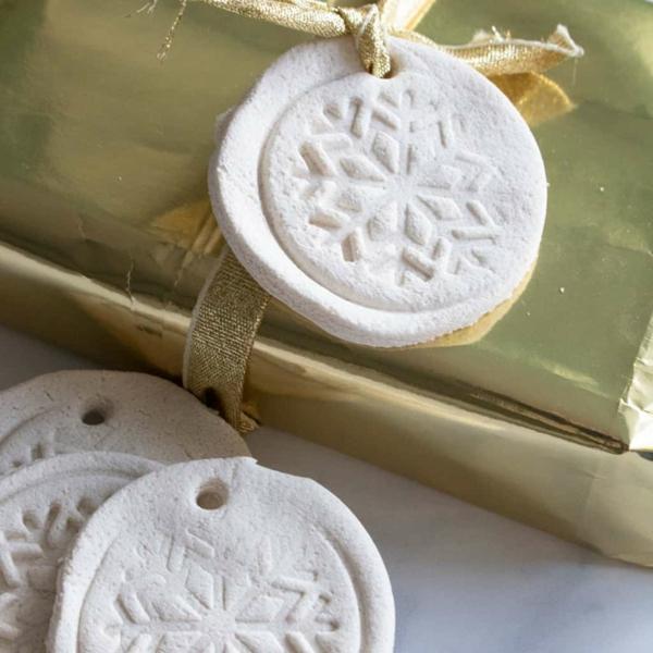 Salzteig machen DIY Weihnachtsornamente Salzteig Ideen