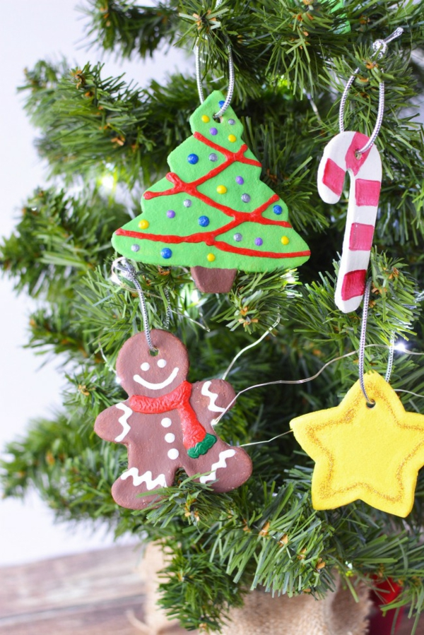 Salzteig machen Deko Ornamente zu Weihnachten Salzteig Ideen