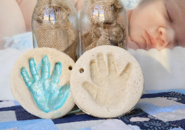 Salzteig machen Kinderhand Salzteig Ideen