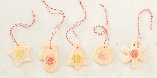 Salzteig machen Rezept Salzteig Ornamente basteln