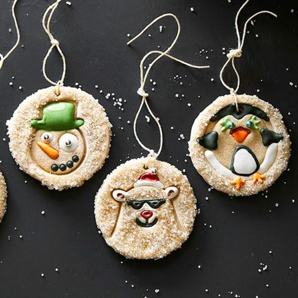 Salzteig machen Weihnachtsdeko Salzteig Ideen