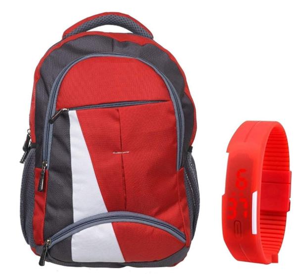 Σχολική τσάντα με κόκκινο χρώμα