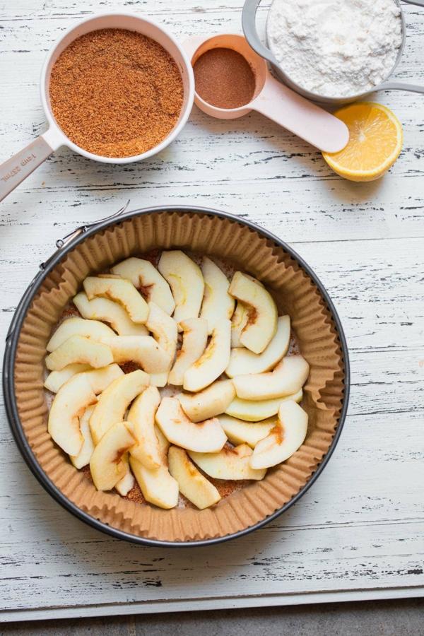 Veganer Apfelkuchen Rezept Zubereitung