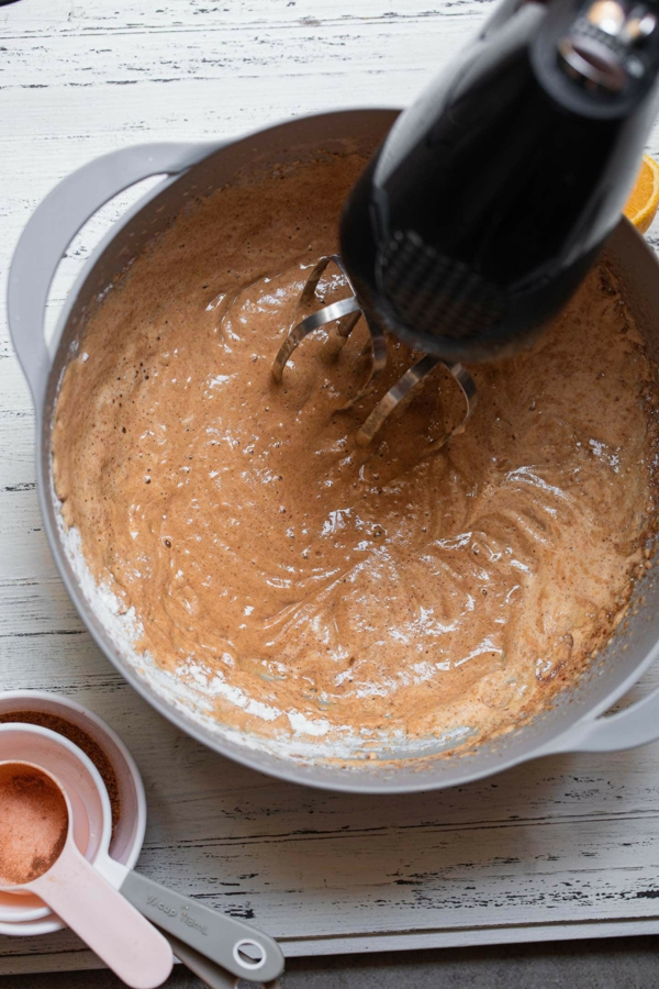 Veganer Apfelkuchen Rezept Zutaten zusammen mischen
