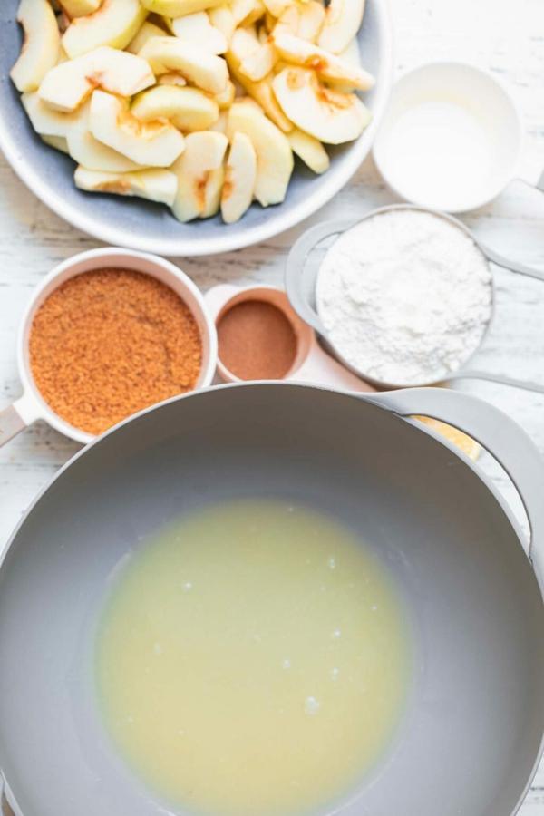 Veganer Apfelkuchen Rezept Zutaten