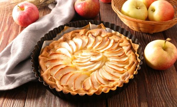 Veganer Apfelkuchen zubereiten ohne Eis glutenfrei Rezept