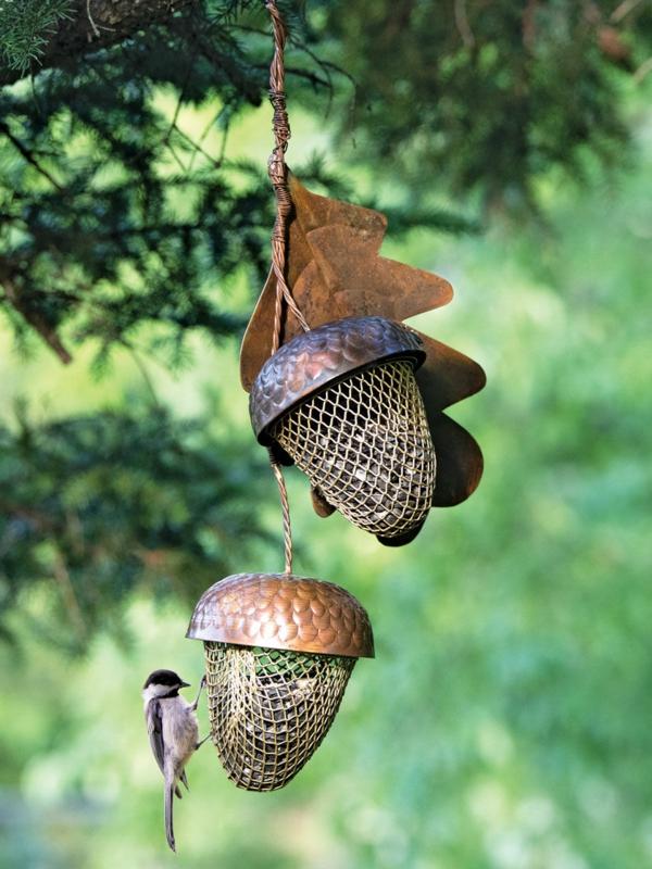 Vogelfutterspender selber bauen Tipps Anleitung