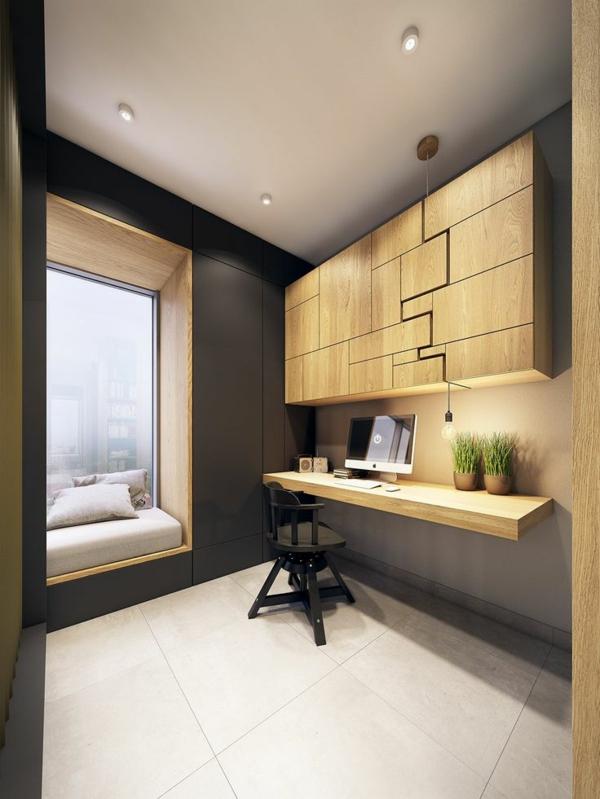 elegantes home office einrichten led leuchten