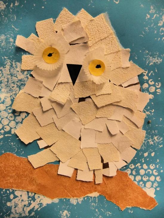 herbstdeko bastelideen eule basteln aus sandpapier