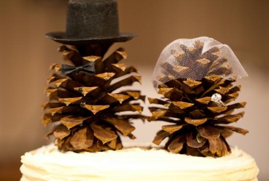hochzeitsdeko mit zapfen herbst winter
