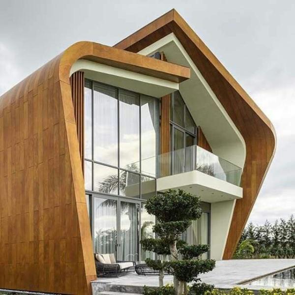 holz glas und metall an den fassaden moderne architektur