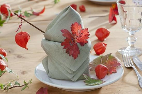 lampionblume physalis tischdeko herbst