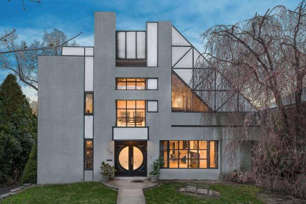 moderne architektur geometrische muster fassadengestaltung