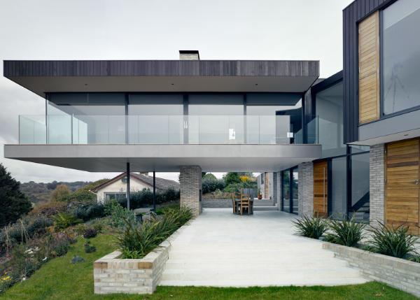 moderne architektur - tolle breite glasfassaden