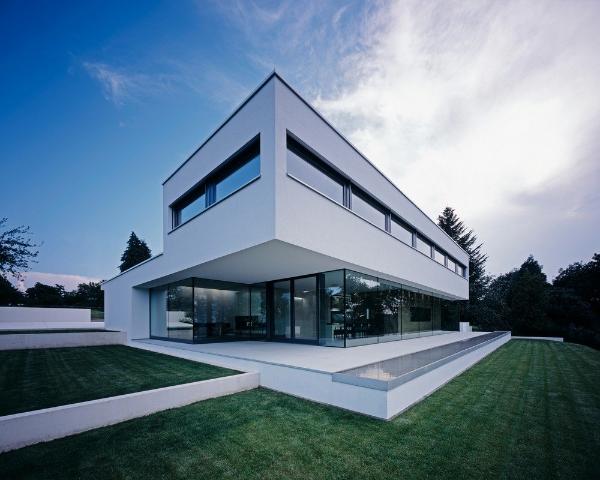 moderne architektur wunderschöne Landschaft mit moderner architektur