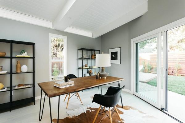 modernes home office richtige beleuchtung