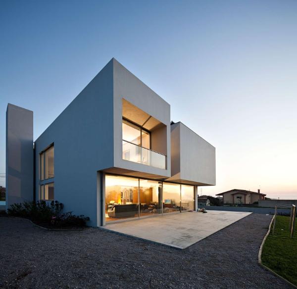 offener wohnraum moderne architektur