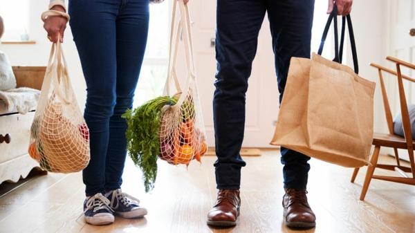 plastikfreie Küche Einkaufstaschen plastikfrei einkaufen