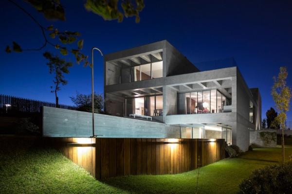 schöne hausbeleuchtung - moderne architektur