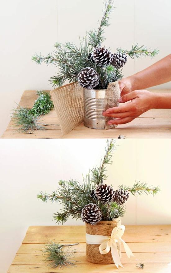 tischdeko hochzeitsdeko winter tannengrün zapfen