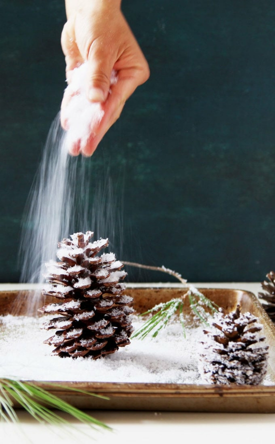 winter tischdeko mit zapfen hochzeitsdeko selber machen