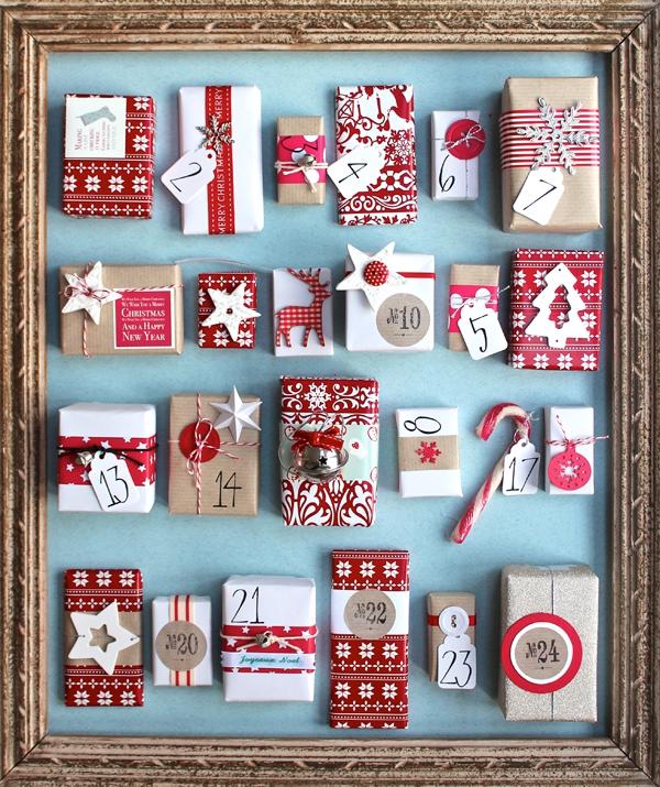 Ausgefallene Adventskalender selber basteln – Ideen und Anleitungen bilderrahmen kalender bunt schön