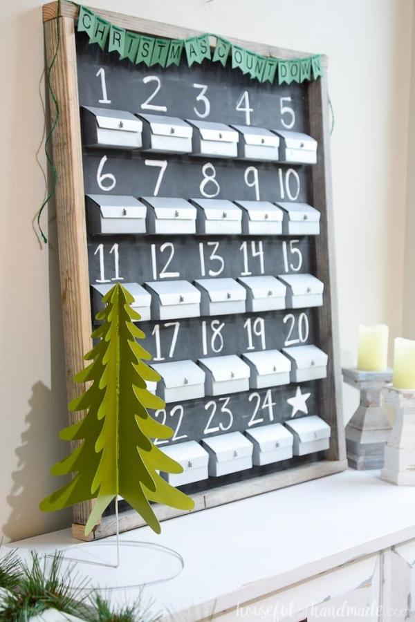 Ausgefallene Adventskalender selber basteln – Ideen und Anleitungen gewürz regal kalender deko