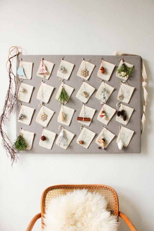 Ausgefallene Adventskalender selber basteln – Ideen und Anleitungen wanddeko kalender shabby chic