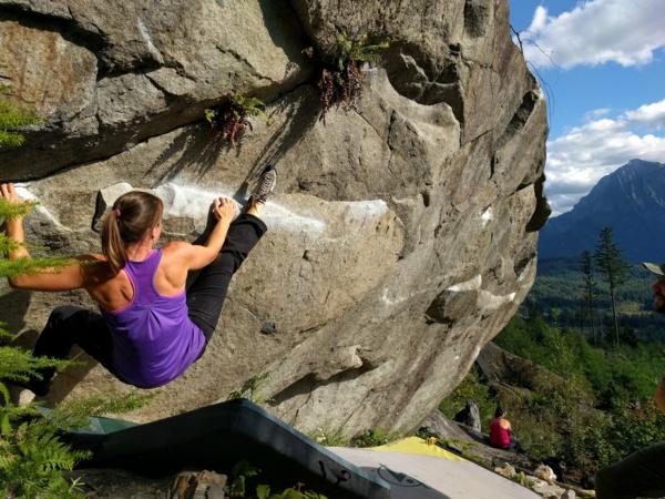 Bouldern Klettern Felsklettern Absprunghöhe