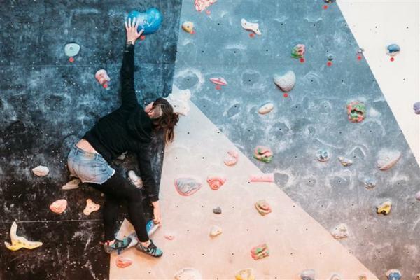 Bouldern Klettern ohne Seil Kletterwand Schwierigkeitsgrad