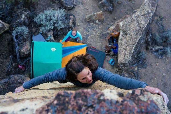 Bouldern Klettern ungesichert Fels