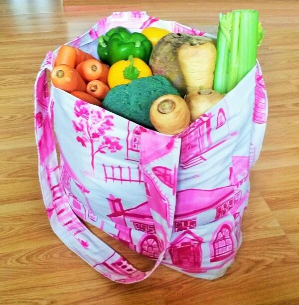 Einkaufstasche nähen Anleitung Einkaufsbeutel Stofftasche