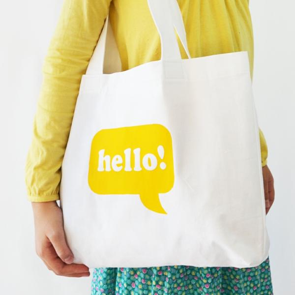 Einkaufstasche nähen Anleitung Einkaufsbeutel aus Stoff