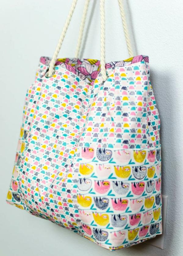 Einkaufstasche nähen Anleitung Einkaufsbeutel umweltfreundlich