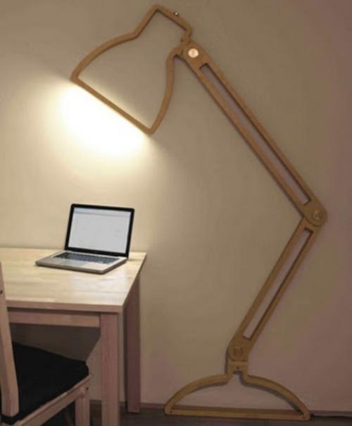 Extravagante Wandleuchten ausgefallenes Design Spot-Licht Schreibtisch Laptop